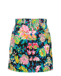 MSGM Flower Print Mini Skirt