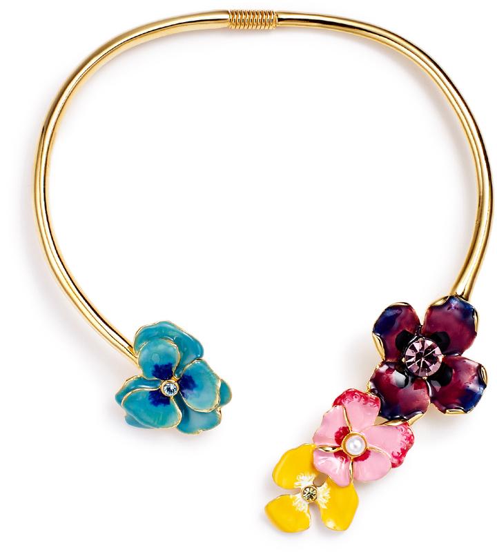 Kenneth Jay Lane Flower Necklace Multi KuicqTK3I