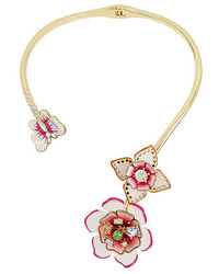 Betsey Johnson Flat Out Floral Collar