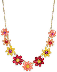 Kate Spade New York Gold Tone Crystal Floral Collar Necklace