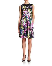 Floral print sleeveless dress medium 229083