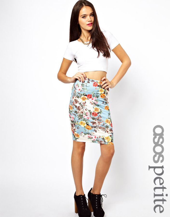 asos bright floral pencil skirt where to buy how to