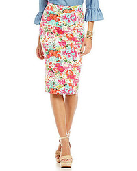 Gianni Bini Bethany Floral Pencil Skirt