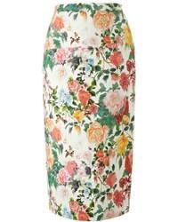 Eudon Choi Floral Cotton Amaranthus Skirt