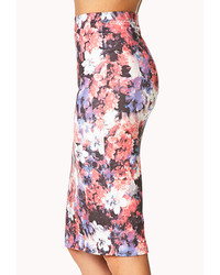 66ceb985d6 Forever 21 Watercolor Floral Bodycon Skirt, $19 | Forever 21 ...