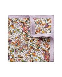Eton Floral Linen Pocket Square