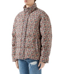 Gucci X Liberty London Floral Print Wool Mohair Down Puffer Jacket