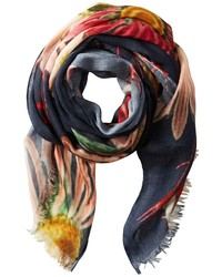 Multi colored Floral Scarf