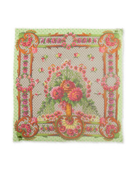 Gucci Frayed Printed Modal And Scarf