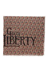 Gucci Multicolor Liberty London Edition Floral Scarf