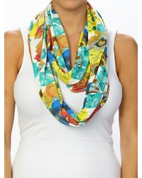 Patchington abstract floral knit infinity scarf medium 210615