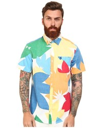 Multi colored Floral Short Sleeve Shirt