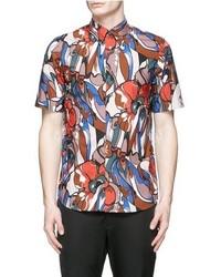 Floral print cotton poplin shirt medium 535336