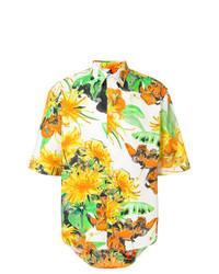 Floral print short sleeve shirt medium 8356147
