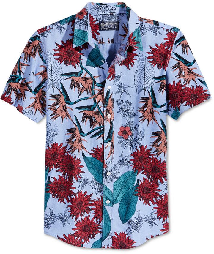 5a644935 American Rag Floral Print Short Sleeve Shirt Only At Macys, $35 ...