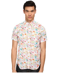 Mark mcnairy new amsterdam short sleeve floral dot button down medium 535339