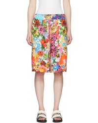 Multicolor floral ample shorts medium 3715586