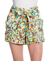 Rebecca minkoff vincent floral silk shorts medium 56576