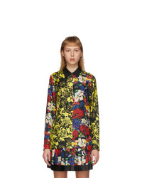 Versace Multicolor Silk Floral Blouse