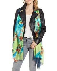 Echo Cascading Floral Double Faced Scarf