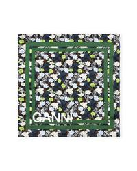 Ganni Silk Twill Square Scarf