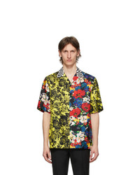 Versace Multicolor Bouquet Silk Shirt