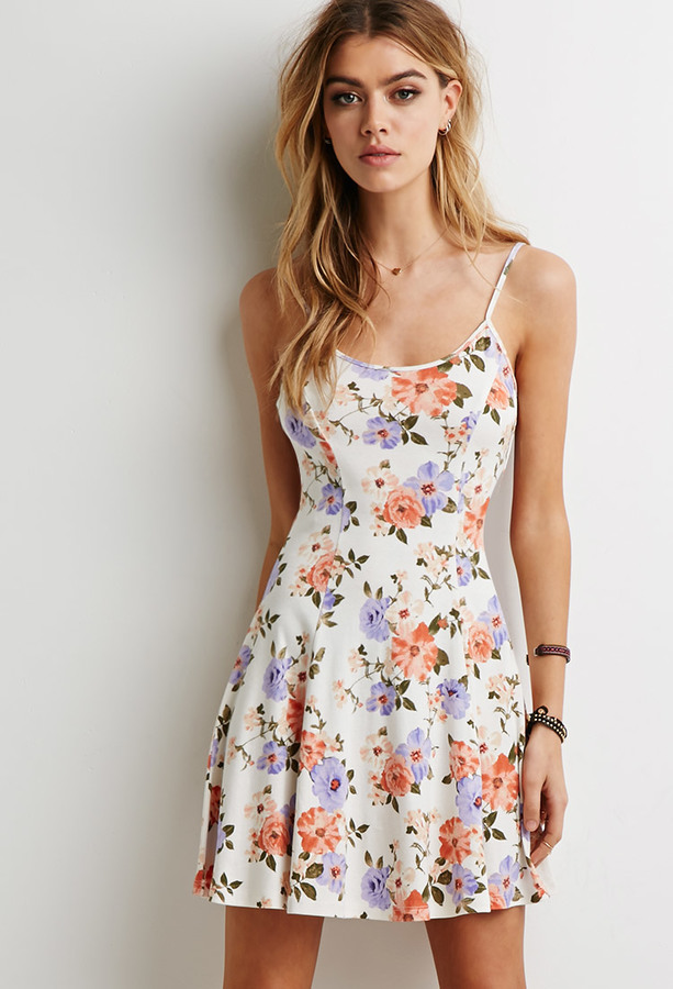 Forever 21 Floral Print Skater Dress | Where to buy & how to wear