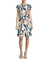 ECI Side Tie Print Dress