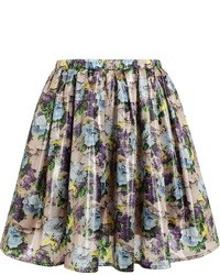 Multi colored Floral Skater Skirt