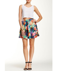 Romeo & Juliet Couture Floral Print Skater Skirt