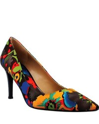 J. Renee Diallo Blackbrite Floral Fabric Casual Shoes
