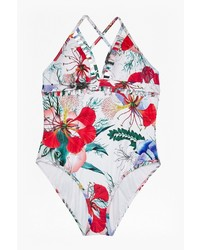 French Connection Floral Reef Cutout Swimsuit