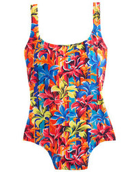 J.Crew Long Torso Sunset Floral Scoopback One Piece Swimsuit