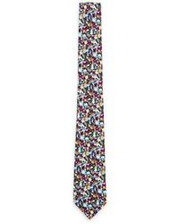 Topman Multicoloured Floral Print Tie