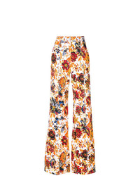 MSGM Floral Print Palazzo Trousers