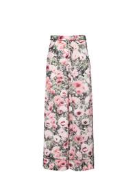Fleur Du Mal Floral Print Wide Leg Trousers