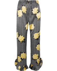 Ganni Med Printed Straight Leg Pants