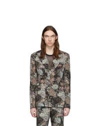 Dries Van Noten Multicolor Wool Floral Double Breasted Blazer