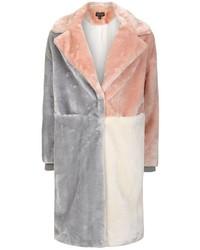 Patchwork faux fur coat medium 3645189