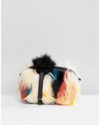 UGG Janey Faux Fur Patchwork Cross Body Bag
