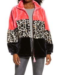 UGG Elaina Colorblock Faux Fur Coat