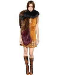 Sonia Rykiel Fox Fur Knit Shawl