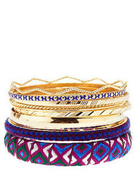 Charlotte Russe Embroidered Ribbon Bangles 10 Pack