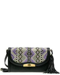 Mary Frances Hold Me Tribal Print Clutch