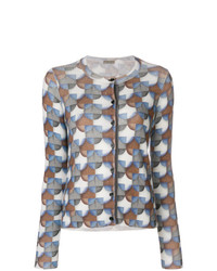 Bottega Veneta Ribbed Printed Cardigan