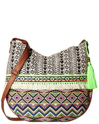 Ivy printed hobo purse with tassel medium 659672