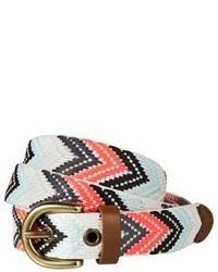 Multi colored Geometric Leather Belt