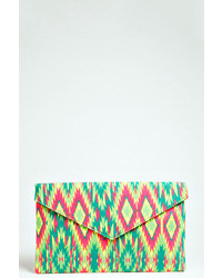 Boohoo anya aztec print envelope clutch bag medium 34347