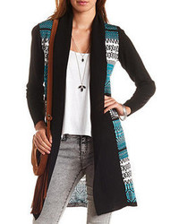 Charlotte Russe Geo Patterned Duster Cardigan Sweater