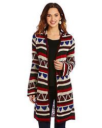 4985f1066c ... Copper Key Tribal Geo Duster Cardigan Sweater ...
